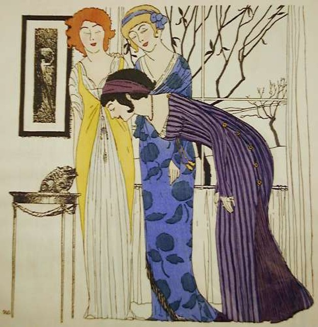 © Illustration by Paul Iribe for Les Robes de Paul Poiret, 1908