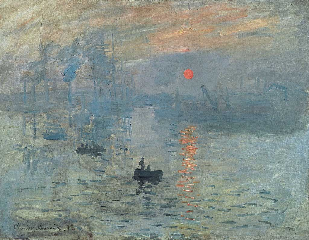 """Claude Monet, Impression, soleil levant"" by Claude Monet - wartburg.edu. Licensed under Public Domain via Wikimedia Commons - http://commons.wikimedia.org/wiki/File:Claude_Monet,_Impression,_soleil_levant.jpg#/media/File:Claude_Monet,_Impression,_soleil_levant.jpg"