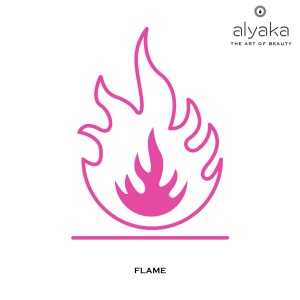 Flame Symbol in Beauty Products