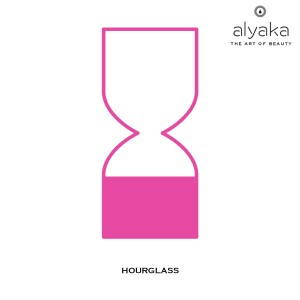 Hourglass Symbol in Beauty Products