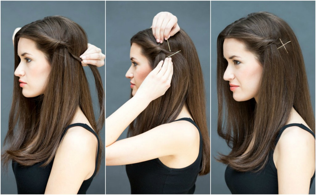Twist and Pin Hairstyle