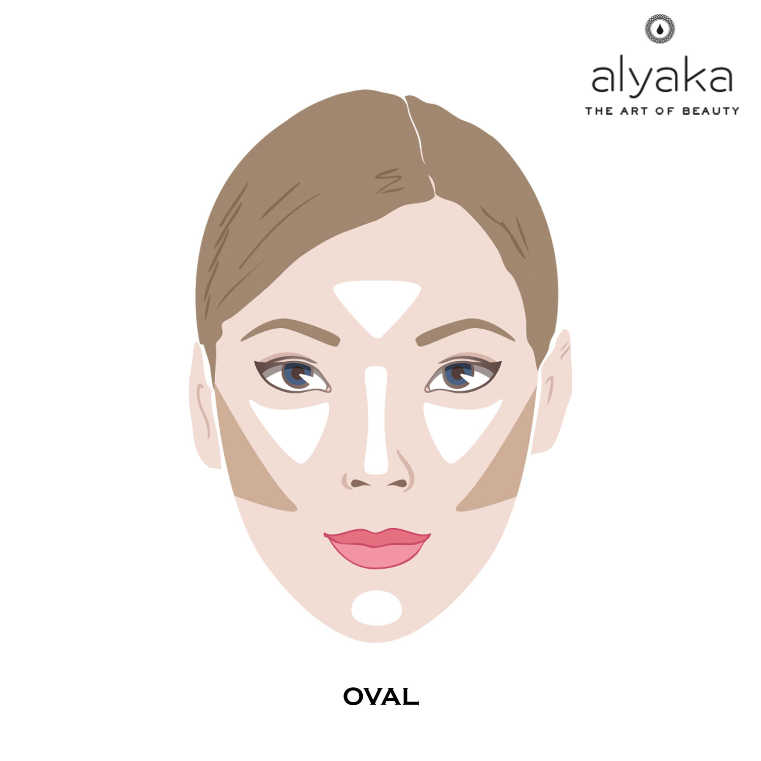 Makeup Contouring for Oval Face