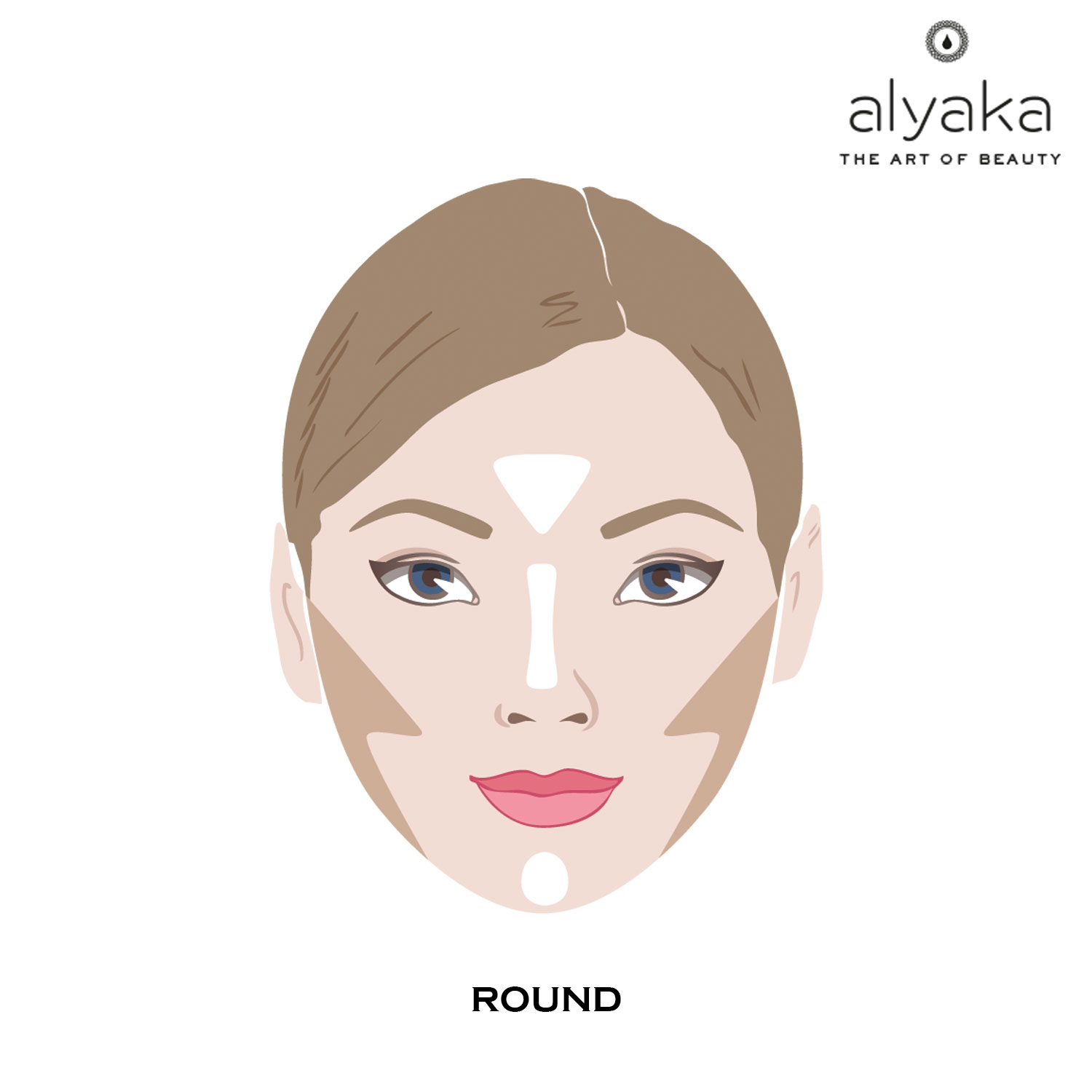 Makeup Contouring for Round Face