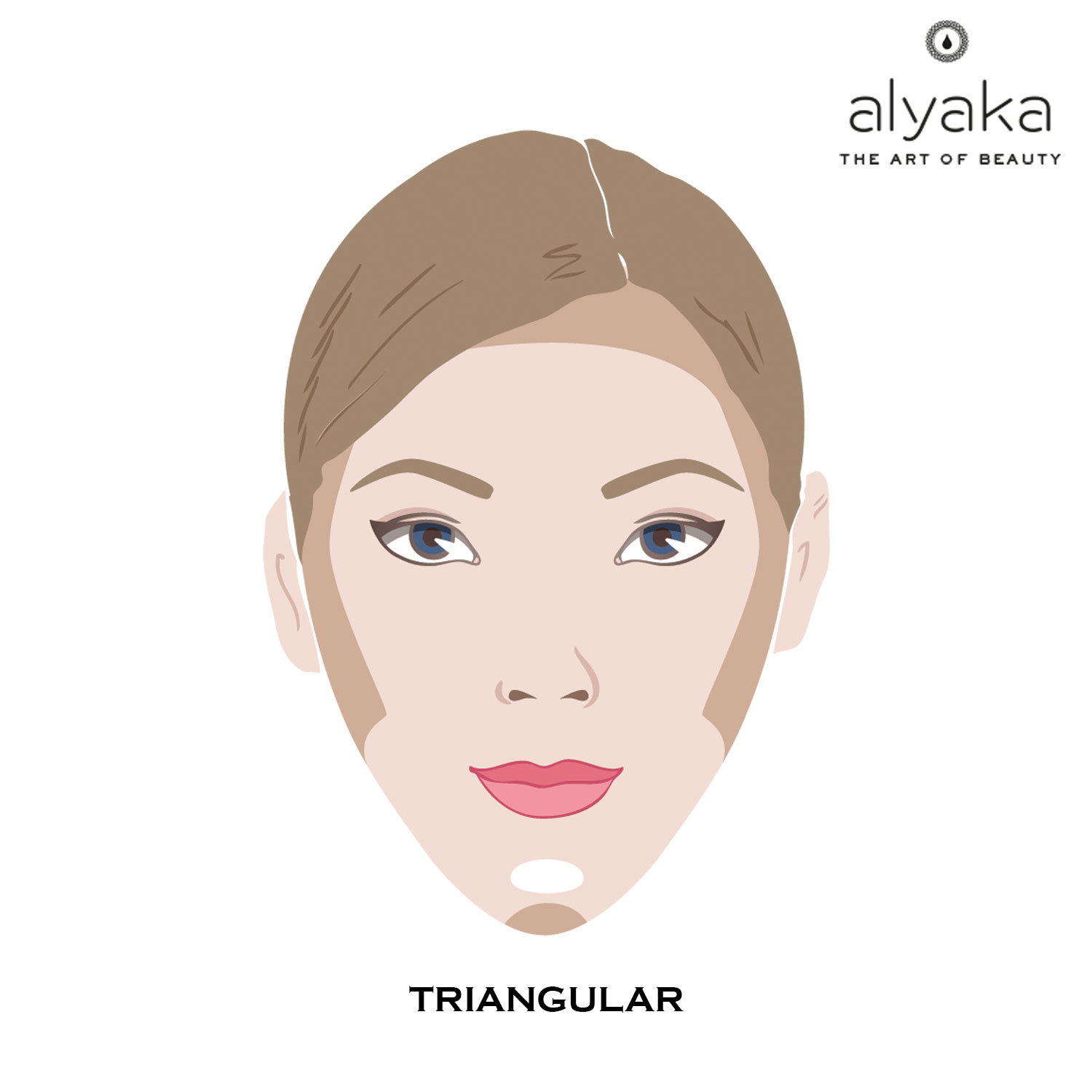 Makeup Contouring for Triangular Face
