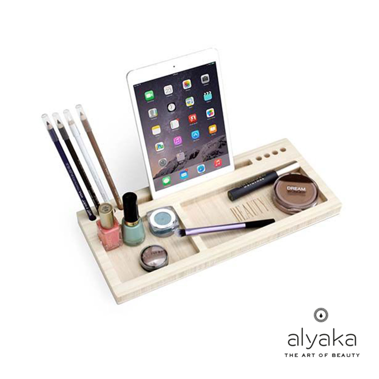 Cosmetic Organiser with Phone Stand