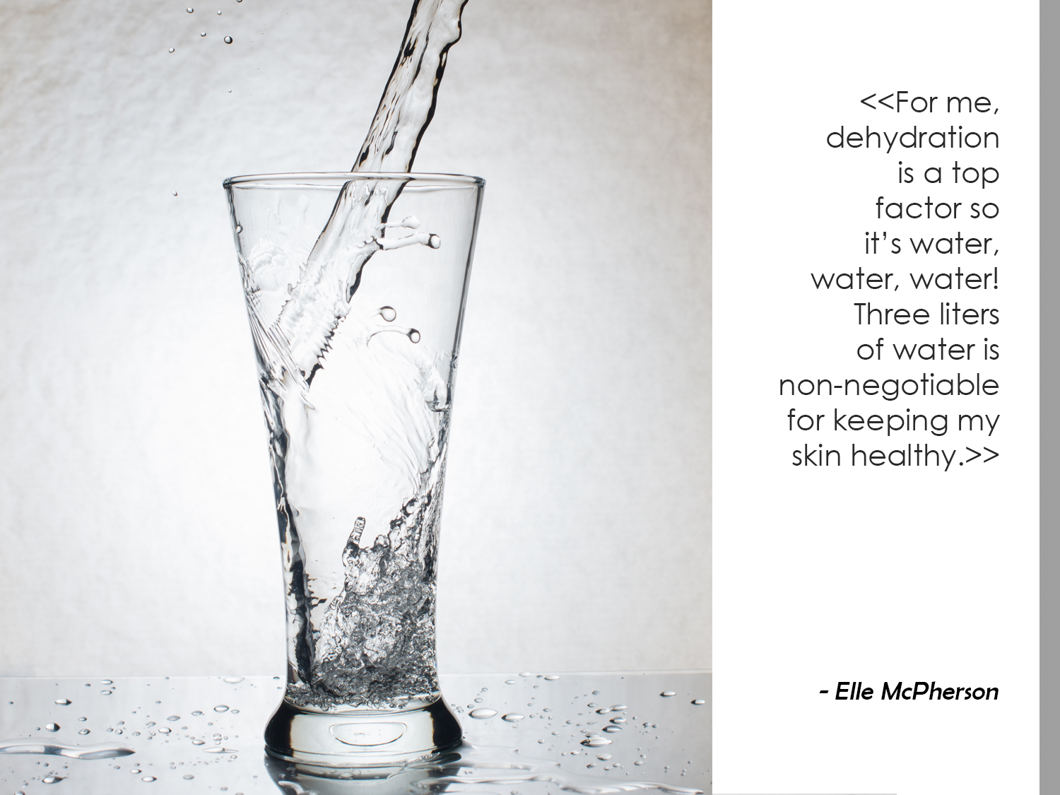 Hydrate with Water