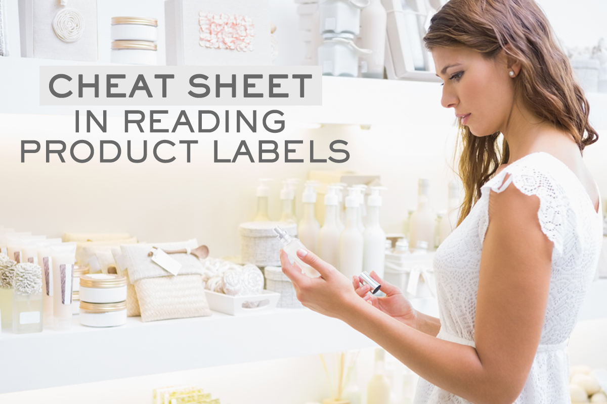 Cheat Sheet in Reading Beauty Product Labels