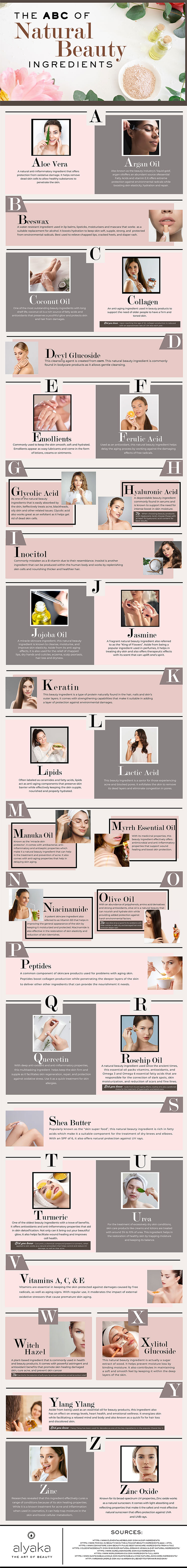 ABC of Natural Beauty Ingredients Infographics