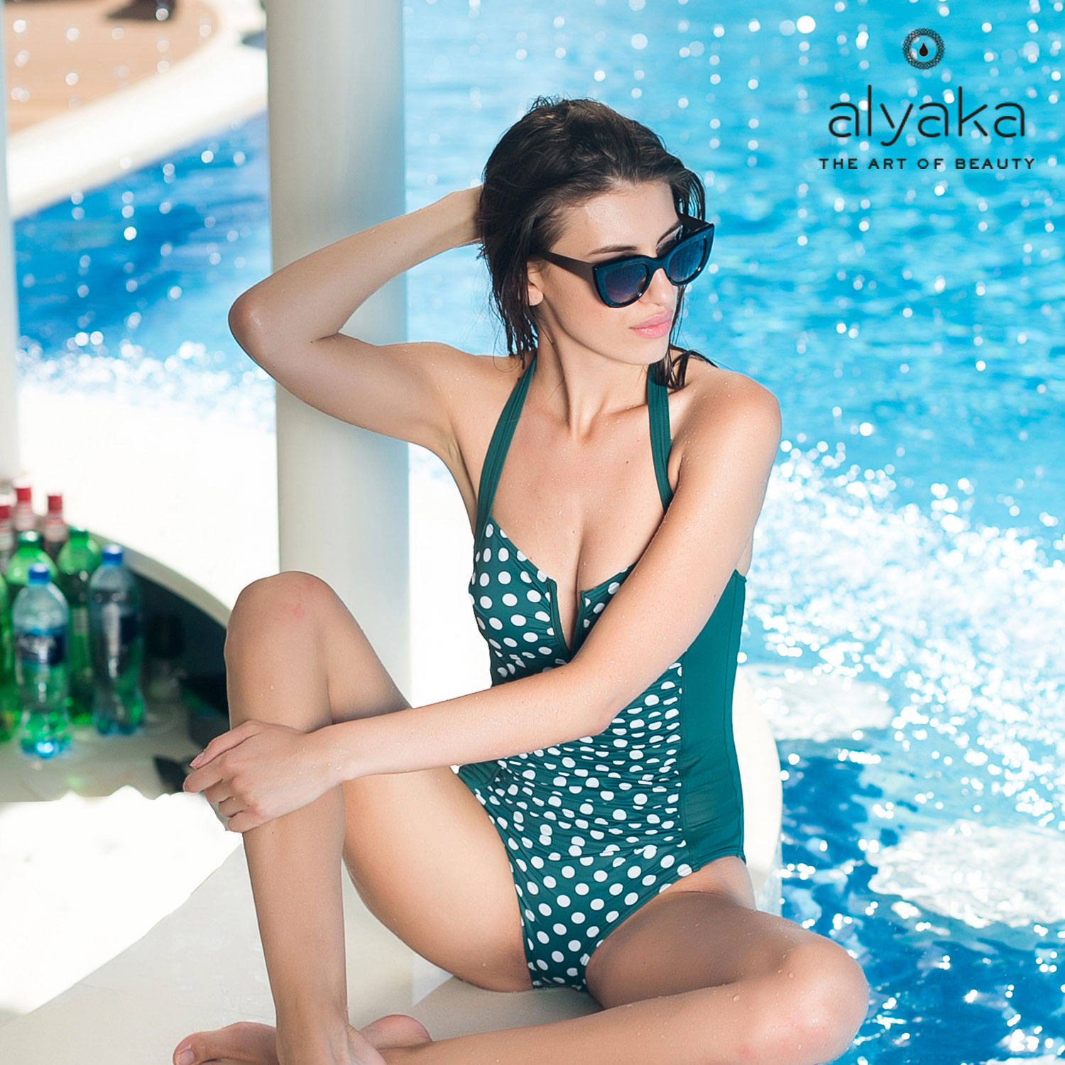 Polka Dots Trendy Swimsuits