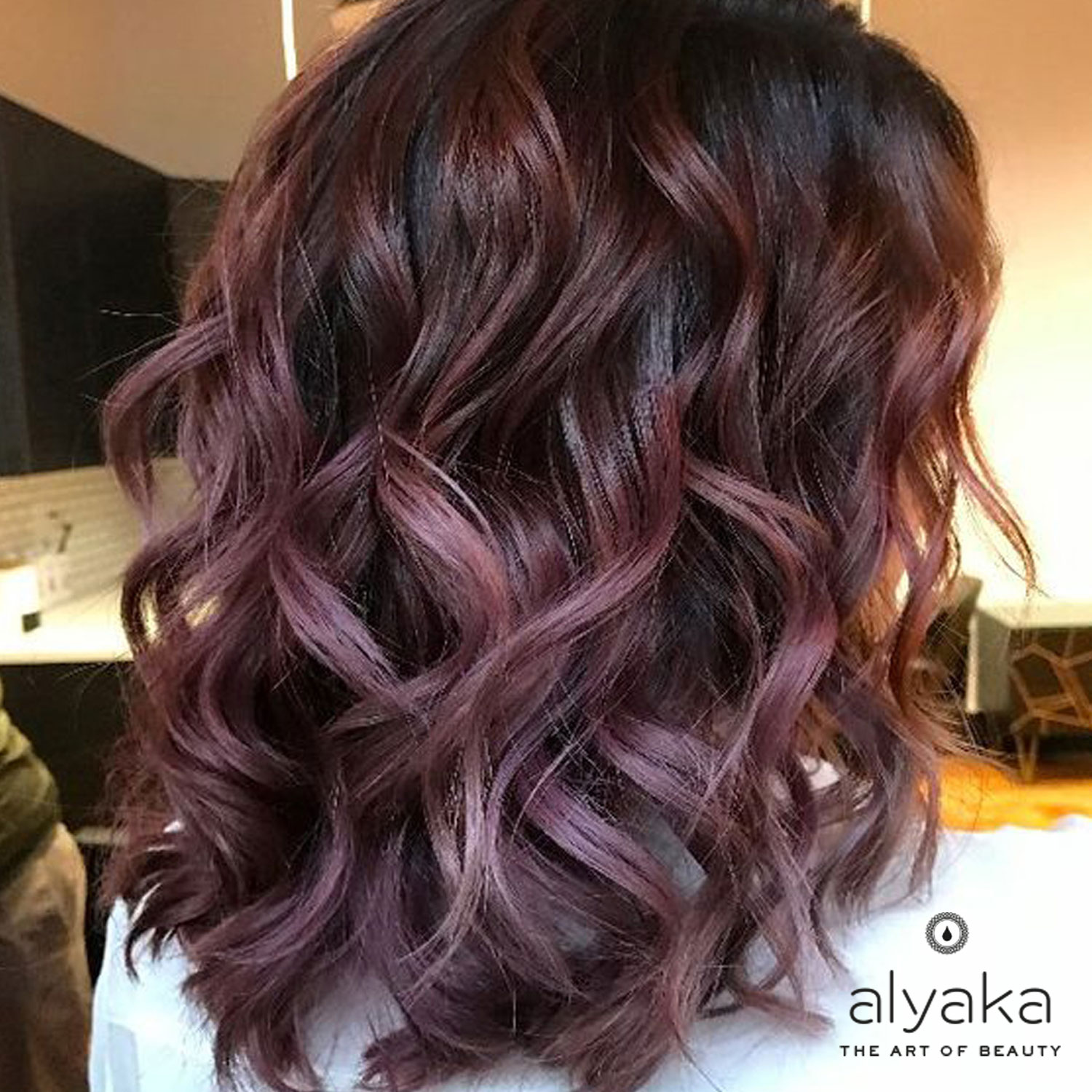 Chocolate Mauve Hair Color Trends