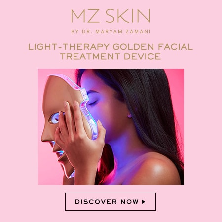 MZ Skin Light Therapy Golden Facial Treatment Device now at Alyaka.com